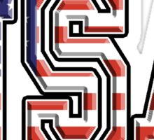 USA, Stars and Stripes, United States of America, Flag, Patriot, America, American, US, on WHITE Sticker