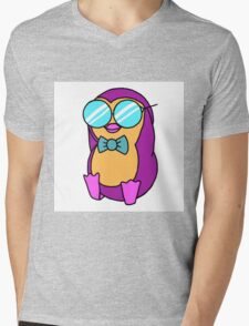 Cool Penguin Mens V-Neck T-Shirt