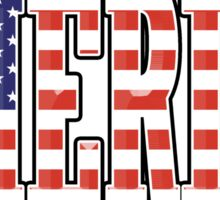 AMERICA, Stars and Stripes, AMERICAN, Patriotic Type, Patriot Type, Navy, Blue Sticker