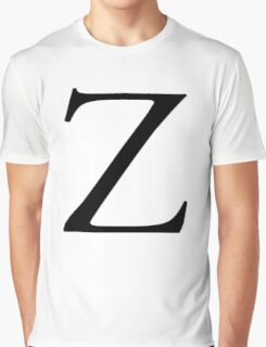 Z, Zee, Zed, Alphabet Letter, Zulu, Zero, Zoro, A to Z, 26th Letter of Alphabet, Initial, Name, Letters, Tag, Nick Name Graphic T-Shirt