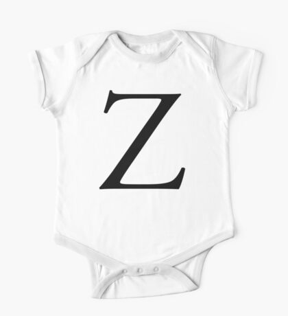 Z, Zee, Zed, Alphabet Letter, Zulu, Zero, Zoro, A to Z, 26th Letter of Alphabet, Initial, Name, Letters, Tag, Nick Name One Piece - Short Sleeve