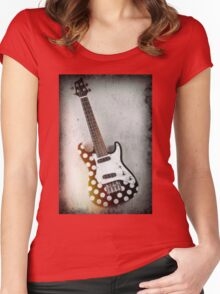 Hanging Electric Ukulele Women's Fitted Scoop T-Shirt