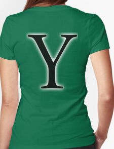 Y, wye, why, Alphabet Letter, Yankee, Young, A to Z, 25th Letter of Alphabet, Initial, Name, Letters, Tag, Nick Name Womens Fitted T-Shirt