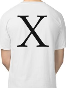 X, ex, Alphabet Letter, X-ray, A to Z, 24th Letter of Alphabet, Initial, Name, Letters, Tag, Nick Name Classic T-Shirt