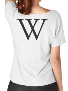 W, double u, Alphabet Letter,  Whiskey, William, A to Z, 23 Letter of Alphabet, Initial, Name, Letters, Tag, Nick Name Women's Relaxed Fit T-Shirt