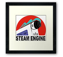 steam engine Framed Print