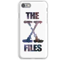 X-Files Space logo design iPhone Case/Skin