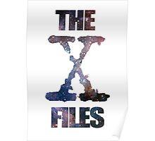 X-Files Space logo design Poster