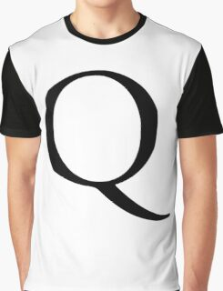 Q, Alphabet Letter, Quebec, Queen, A to Z, 17th Letter of Alphabet, Initial, Name, Letters, Tag, Nick Name Graphic T-Shirt