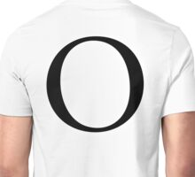 O, Alphabet Letter, Oscar, Ocean, A to Z, 15th Letter of Alphabet, Initial, Name, Letters, Tag, Nick Name Unisex T-Shirt