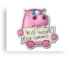 CS: GO Will Work For Ammo Canvas Print