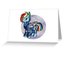 My little pony- rainbow dash (cutie re-mark) Greeting Card
