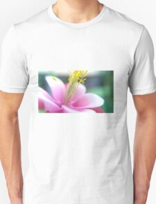 Tilted Pink Flower Unisex T-Shirt