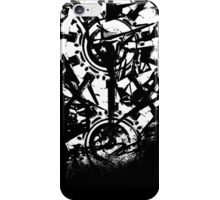 Shattered Distortion (Negative White) iPhone Case/Skin