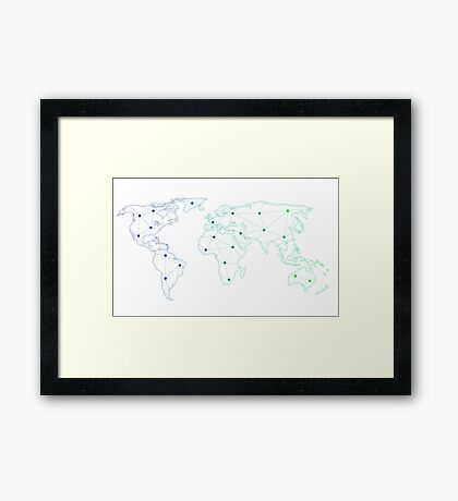 connected atlas Framed Print