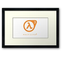 Half Life 3 Logo Framed Print