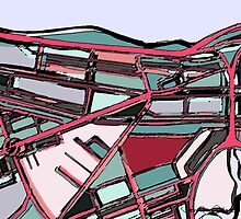 Abstract Map of Fenway Park by abstractmaps
