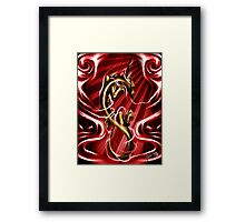 Golden Ryu Framed Print