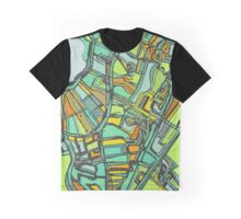 Abstract Map of Jamaica Plain Graphic T-Shirt