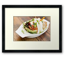 Korean Steamed Bun Framed Print