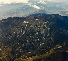 Rocky Mountains Aerial View by ezumeimages