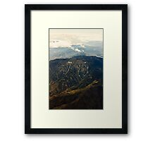 Rocky Mountains Aerial View Framed Print
