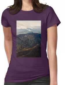 Rocky Mountains Aerial View Womens Fitted T-Shirt