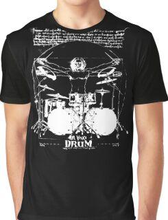 Vintage Da Vinci Drum Graphic T-Shirt
