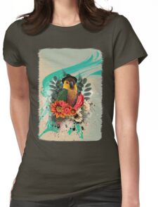 Cool Parrot Womens Fitted T-Shirt