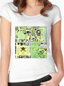 I am Warsaw map Women's Fitted Scoop T-Shirt