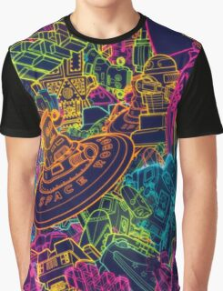 funky trippy robots Graphic T-Shirt
