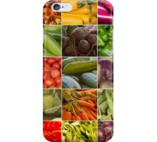 Fruit and Vegetable Collage iPhone Case/Skin