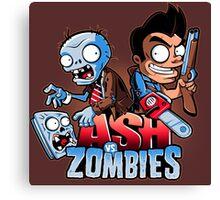 Ash vs Zombies Canvas Print