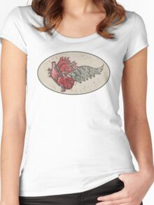 As the heart flies Women's Fitted Scoop T-Shirt