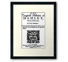 Hamlet-cover Framed Print