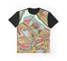 Abstract Map of Lowell Graphic T-Shirt