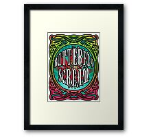 BUTTERFLY SCREAM 60'S STYLE Framed Print