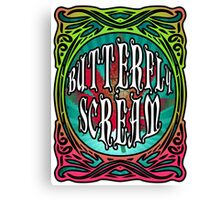 BUTTERFLY SCREAM 60'S STYLE Canvas Print