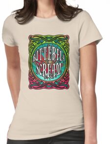 BUTTERFLY SCREAM 60'S STYLE Womens Fitted T-Shirt