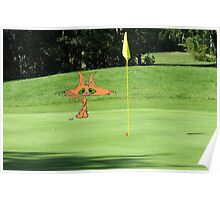Cat Puts At The Golf Course Poster