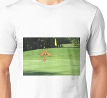 Cat Puts At The Golf Course Unisex T-Shirt