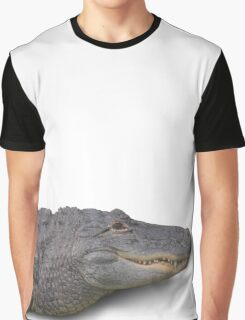 Alligator Isolated on White Graphic T-Shirt