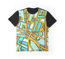 Abstract Map of Medford Square Graphic T-Shirt