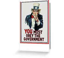 Uncle Sam You Must Obey Greeting Card