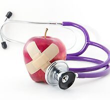 Red Apple Stethoscope by ezumeimages