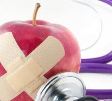 Red Apple Stethoscope Sticker