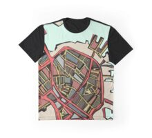 Abstract Map of Boston North End Graphic T-Shirt
