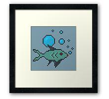 Pixel Fish Framed Print