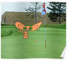 Cat Loves The Game Of Golf Poster