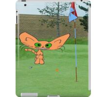 Cat Loves The Game Of Golf iPad Case/Skin
